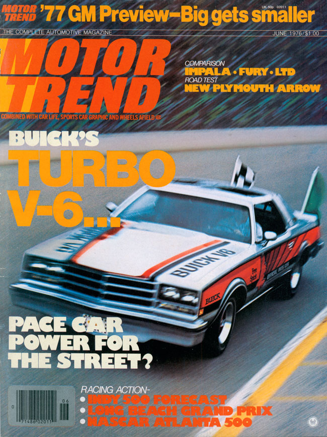 1976 Buick Century Pace Car on the cover of Motor Trend
