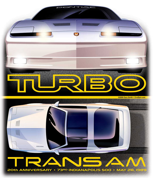1989 Pontiac Turbo Trans Am Artwork