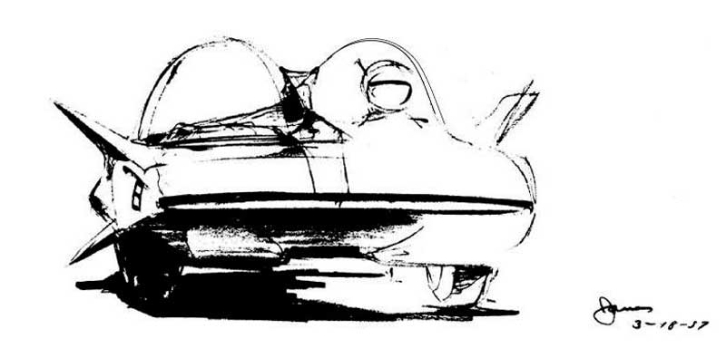 Firebird III sketch