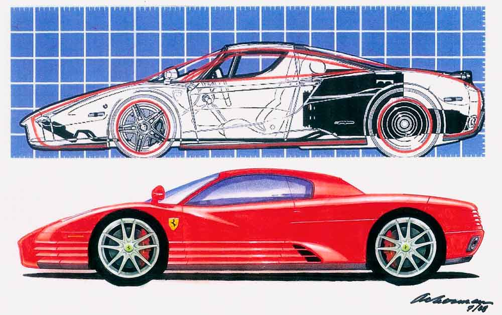 League of retired automotive designers ferrari design for Garage auto legue langueux