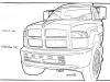 Dodge-D600-Replacement-line-sketch,-part-of-wall-display-depicting-various-views-&-parts