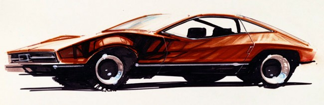 1971-Mustang-II-original-Buck-Mook-design-sketch-