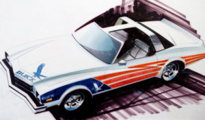 Firebird Jet Powered Motorama Dream Cars; Pace Car Sketch