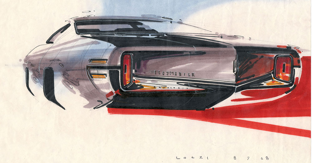 Geza-Loczi-Oldsmobile-rear-Aug-7-1968