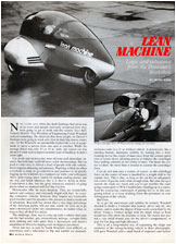 Lean Machine Road & Track Article