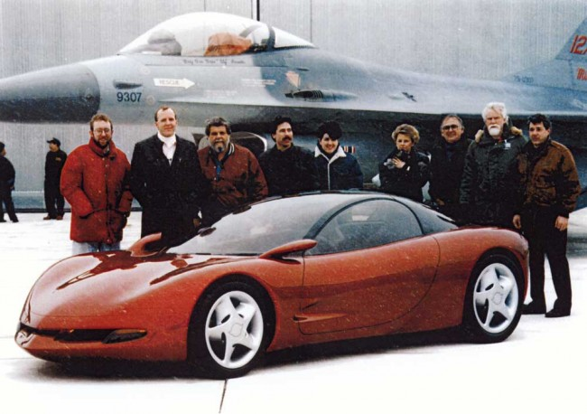 I Recognize Tom Peters Nate Hall Glen Durmisevich Carol Pirelli And Paul Deesen Third From The Right In Front Of F 16 They Designed No Wait