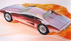 1973 XP-897 GT/2-Rotor Corvette Artwork